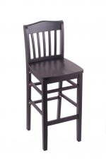 3110 Hampton Black Wood Stool