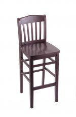 3110 Hampton Dark Cherry Wood Stool