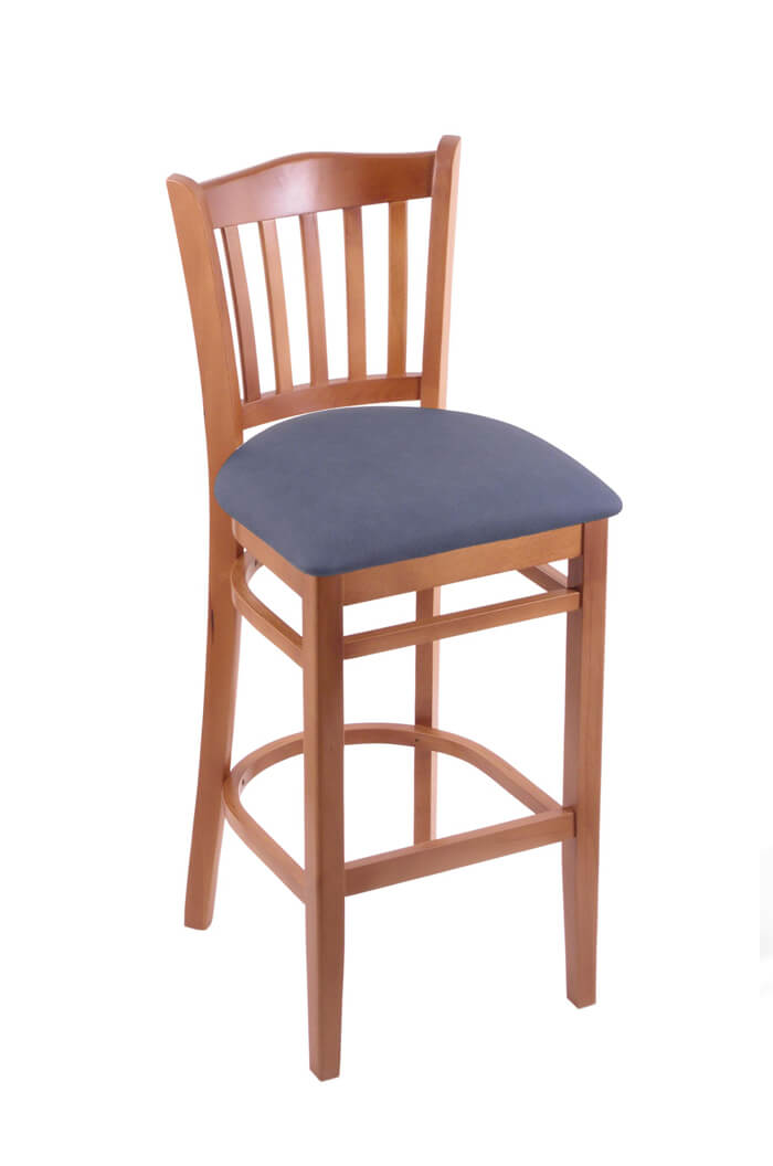 3120 Hampton Wood Stool with Back