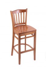 Holland's #3120 Hampton Medium All Wood Stool with Back and Footrest