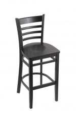 Holland's Hampton #3140 Barstool with Back in Black Wood