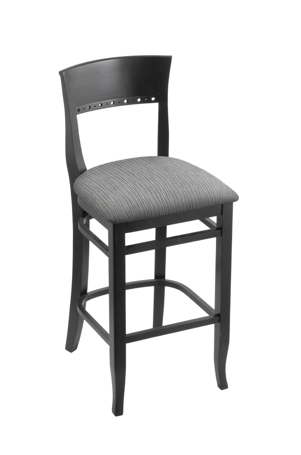 3160 Hampton Wood Stool with Back