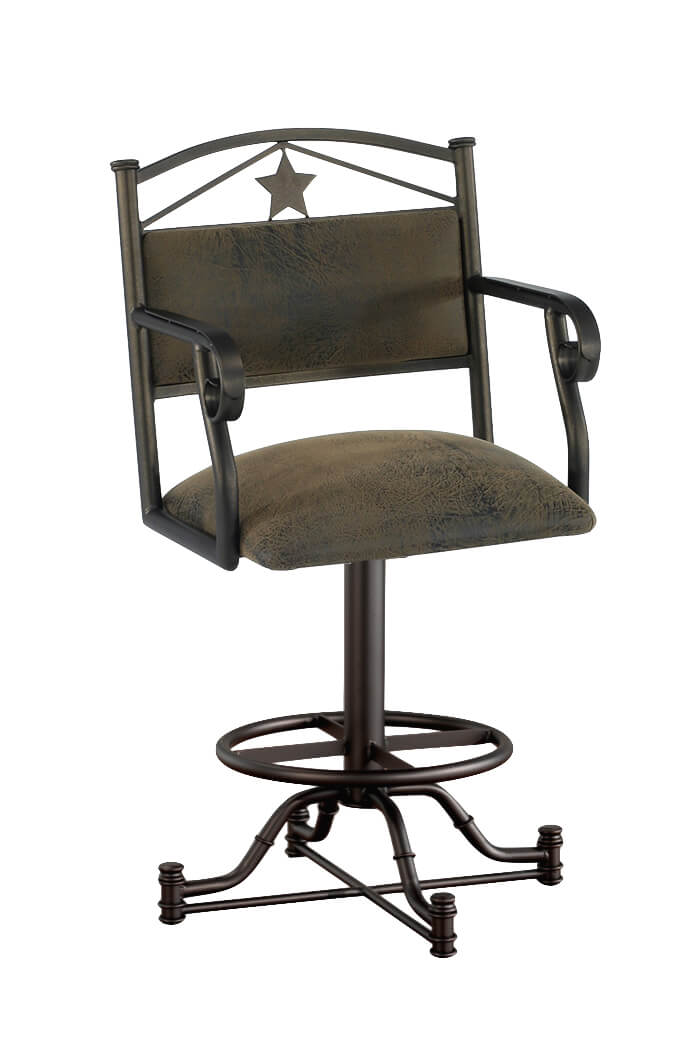 Buy Callee S Texas Wide Swivel Bar Stool With Star Free