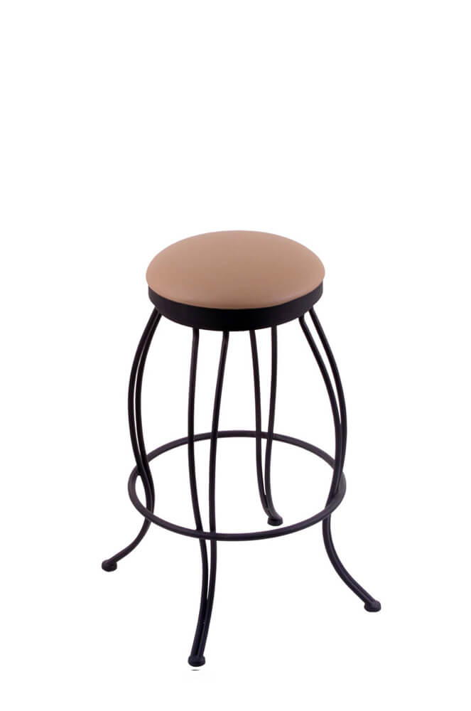 Holland S 3000 Georgian Backless Swivel Stool In Black