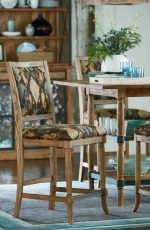 Fairfield's Burke Wooden Bistro Stool in Dining Room
