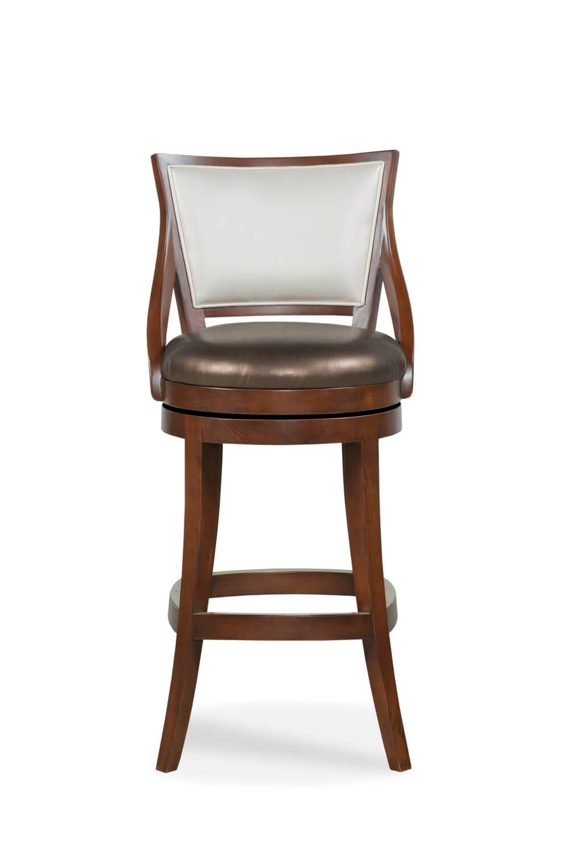 Conley Wooden Swivel Stool Barstool Comforts