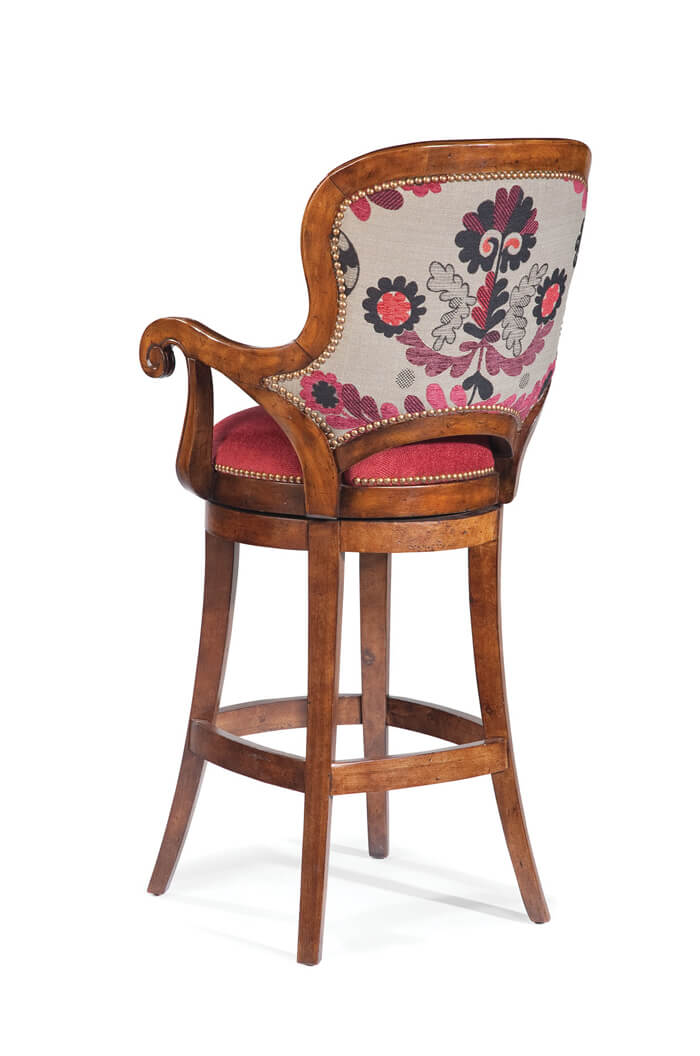 Buy Fairfield S Melrose Wood Swivel Barstool 30 Quot W Arms