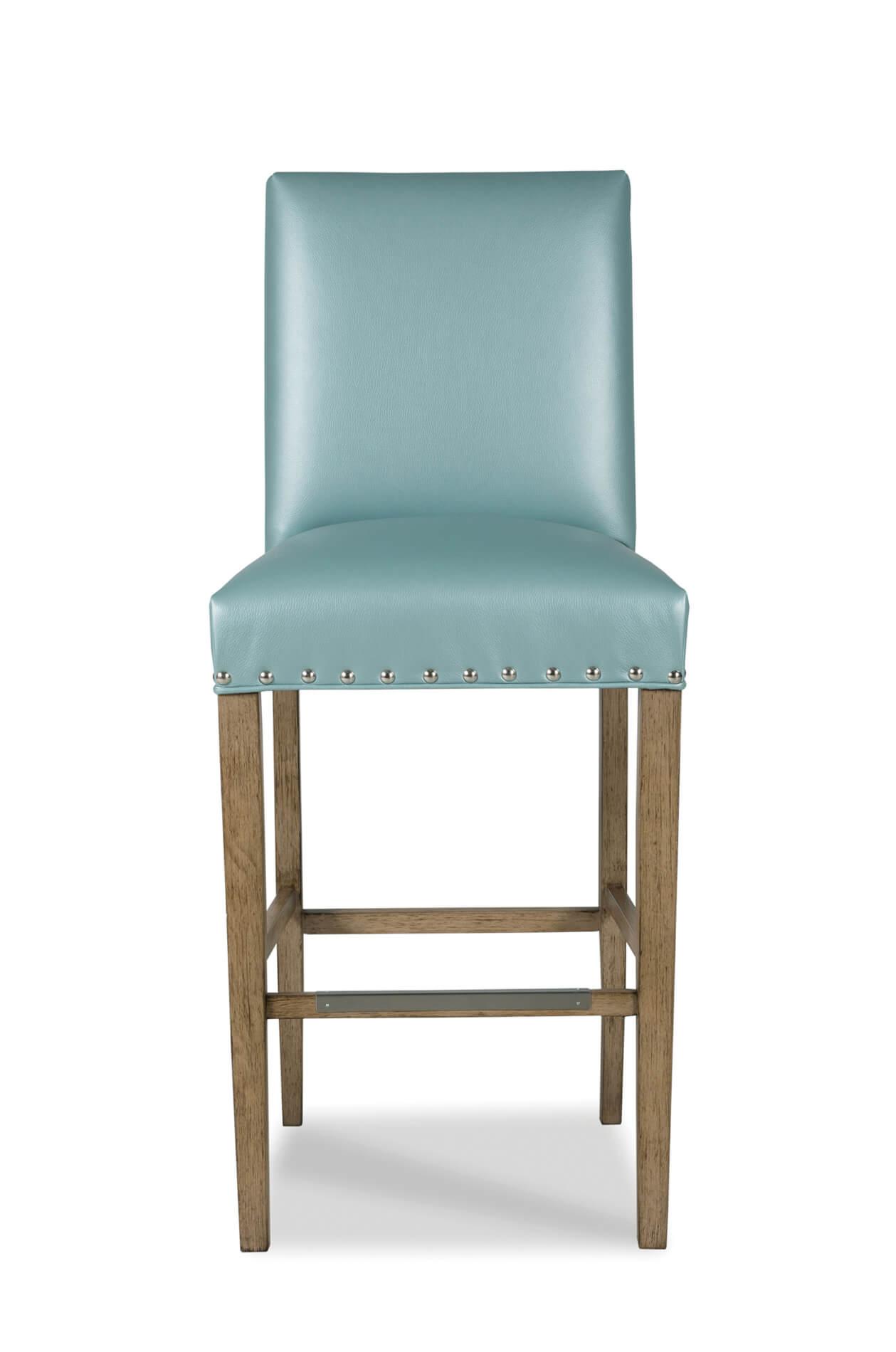 Buy Evans Upholstered Durable Wood Barstool W Back Fully Assembled