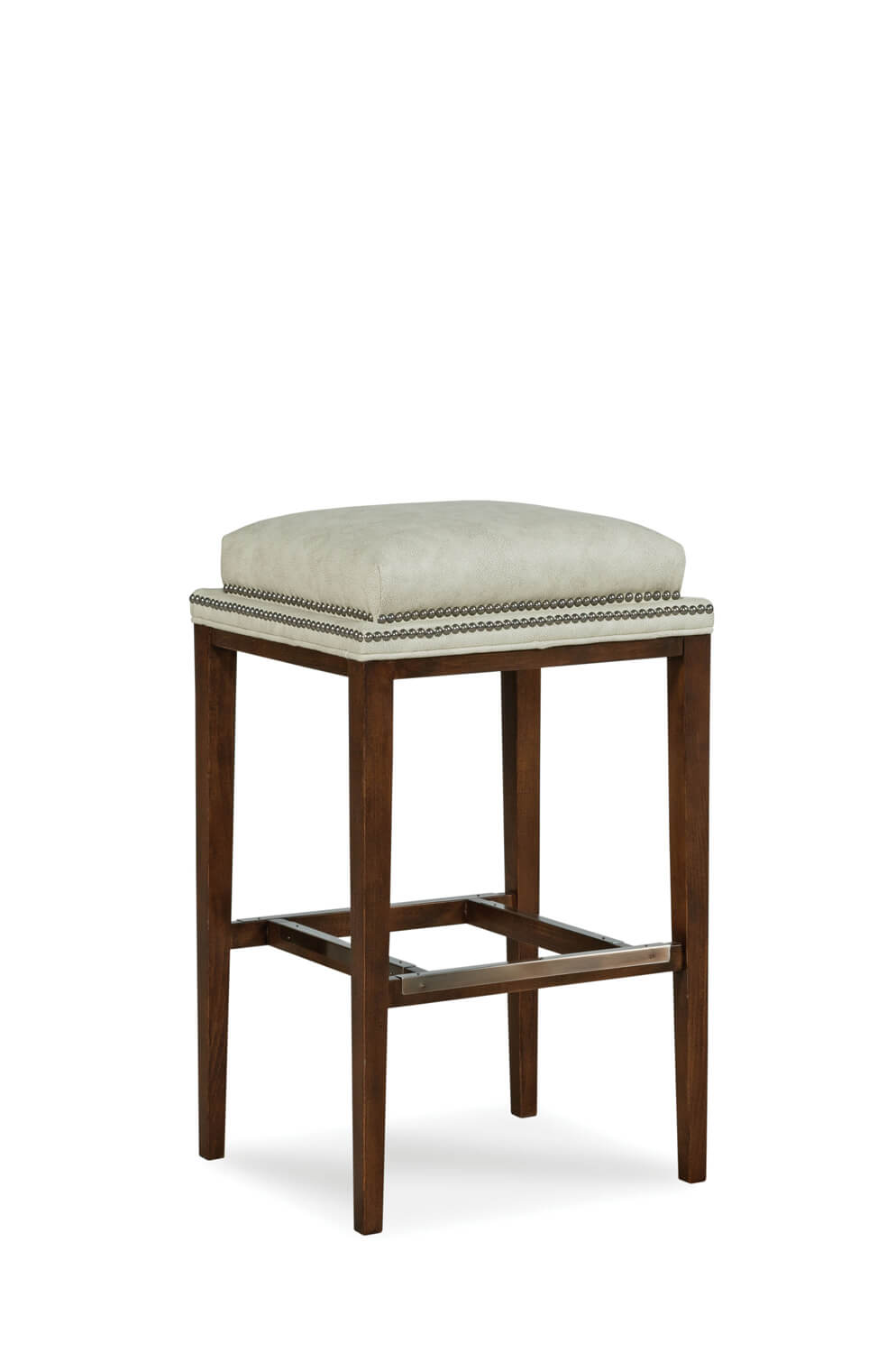 Fairfield Chair's Noah Wooden Backless Barstool