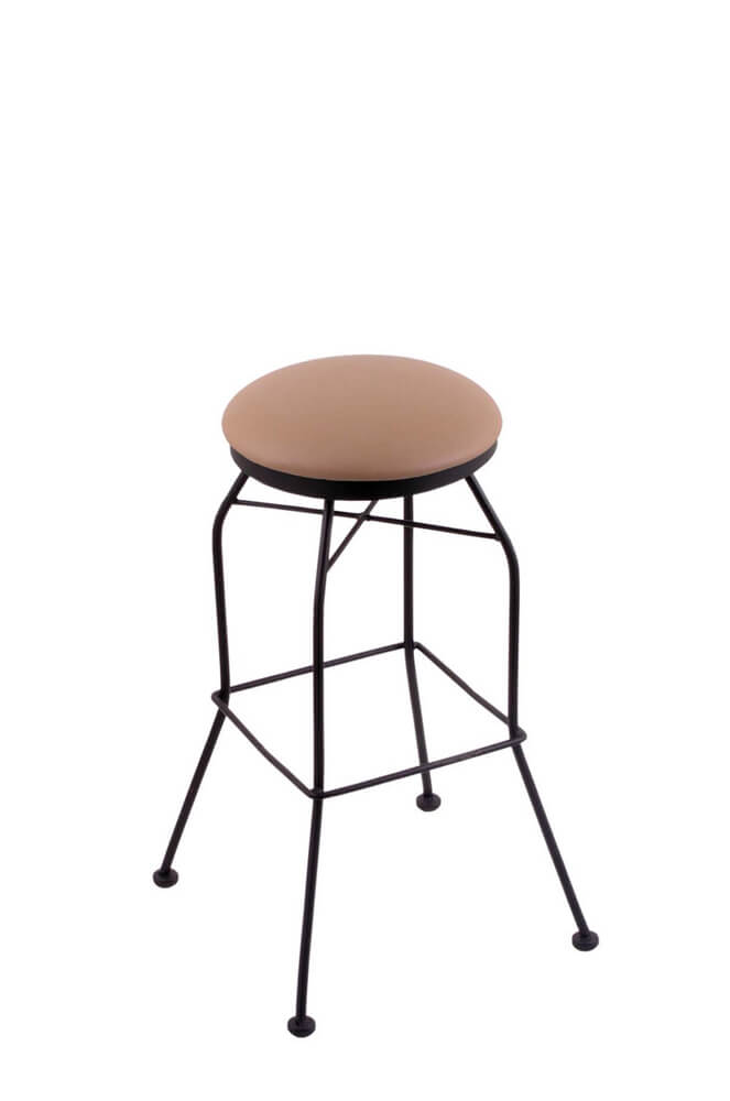 Holland #3020 Backless Swivel Stool in fabric, Allante Beechwood
