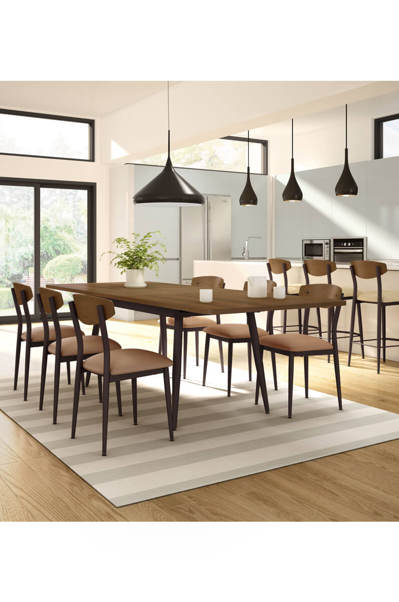 fun dining room chairs | Amisco Hint Unique Nordic Style Side Chair - Free shipping!