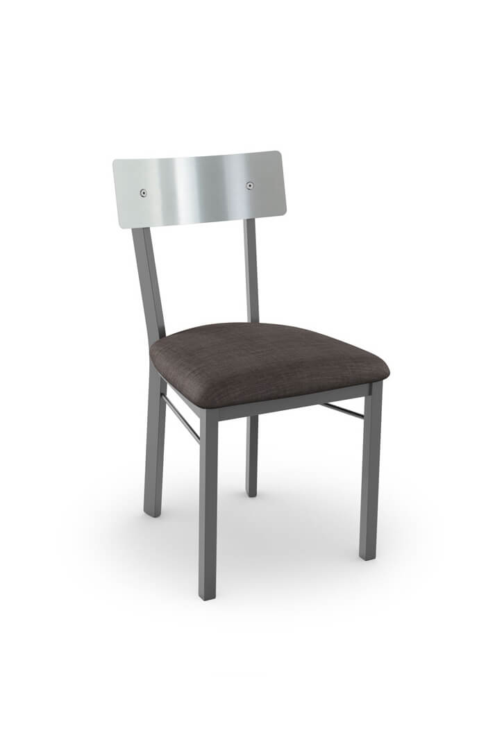 Amisco's Lauren Armless Chair with Stainless Steel Backrest