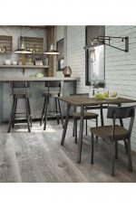 Amisco Lauren Side Chairs in Industrial Kitchen
