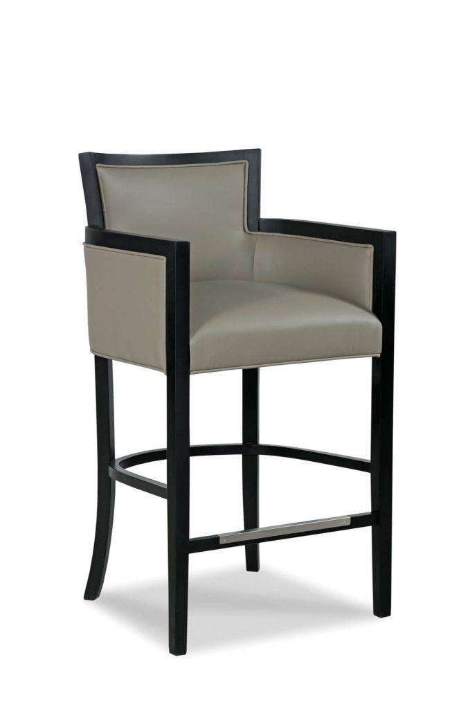 Fairfield's Albany Wooden Bar Stool with Arms and Back