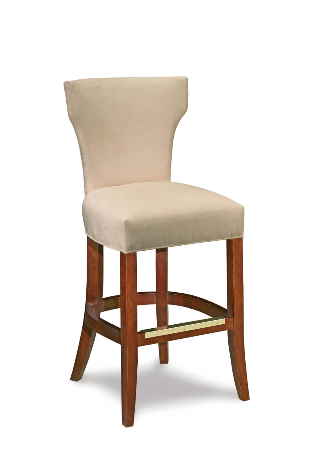 Fairfield Chair's Ardmore Transitional Armless Bar Stool with Back