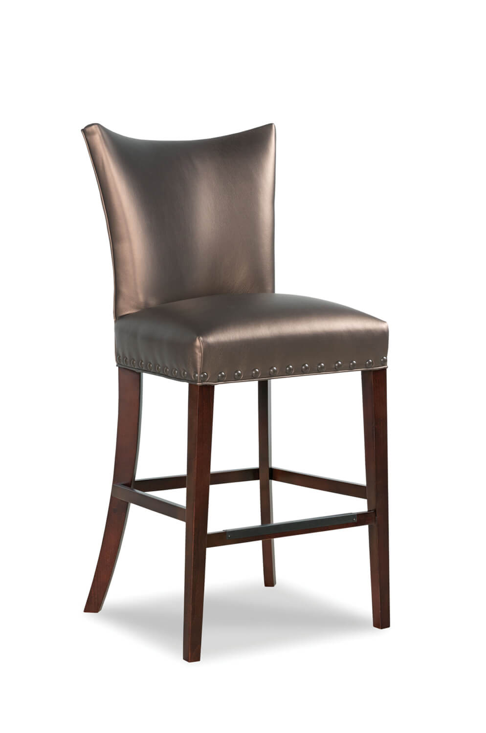 Fairfield's Casey Transitional Bar Stool with Curved Backrest