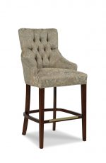 Fairfield's Clancy Wooden Bar Stool with Button-Tufted Backrest
