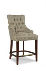 Fairfield's Clancy Wood Counter Stool with Tufted Backrest