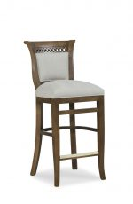Fairfield's Dana Wooden Bar Stool with Low Backrest