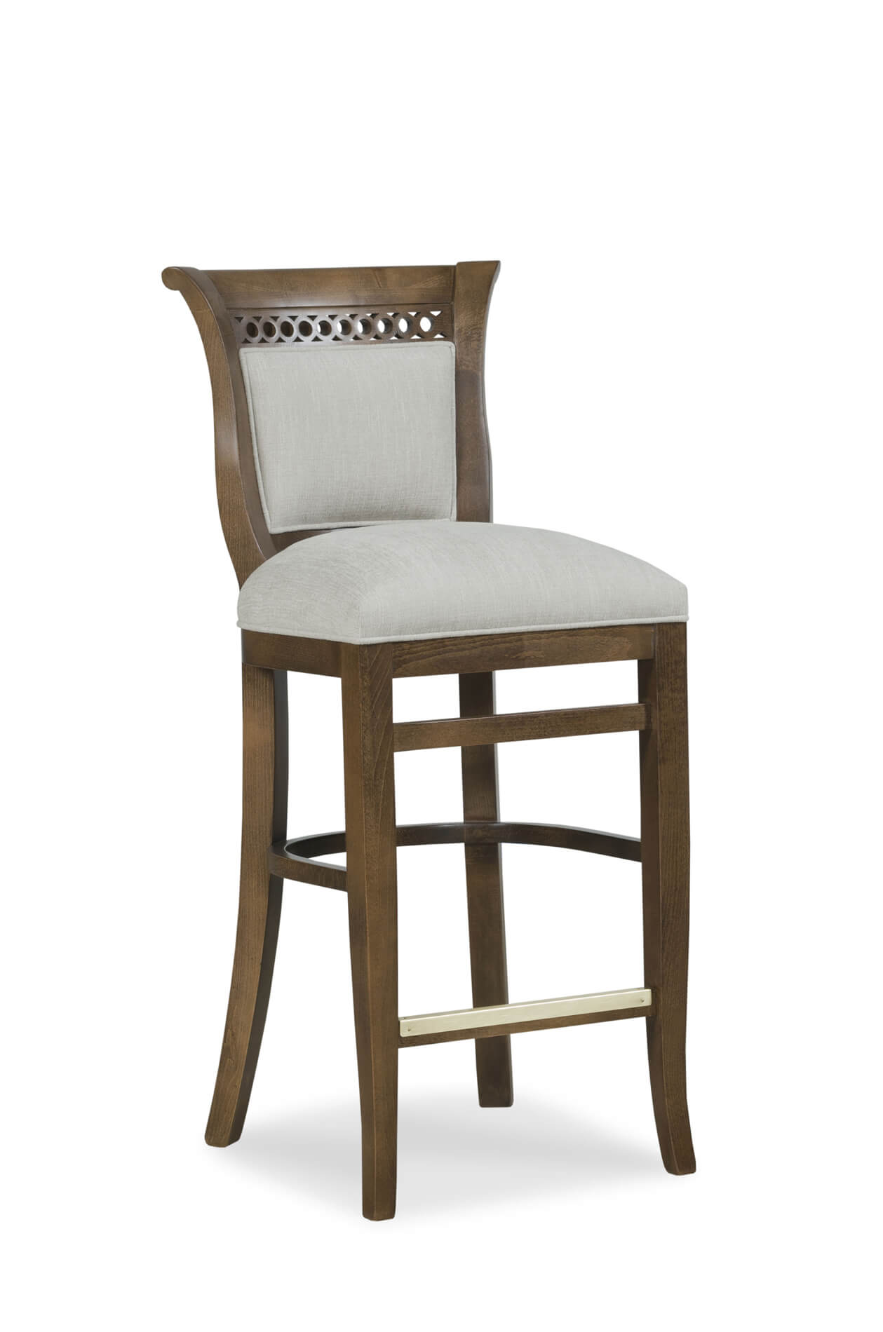 Fairfieldu0027s Dana Wooden Bar Stool With Low Backrest