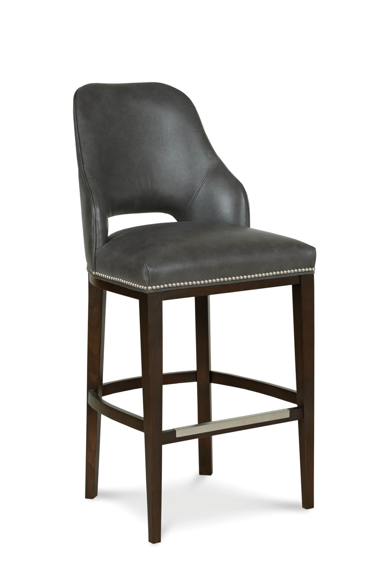 Fairfield's Darien Wooden Bar Stool with Upholstered Back