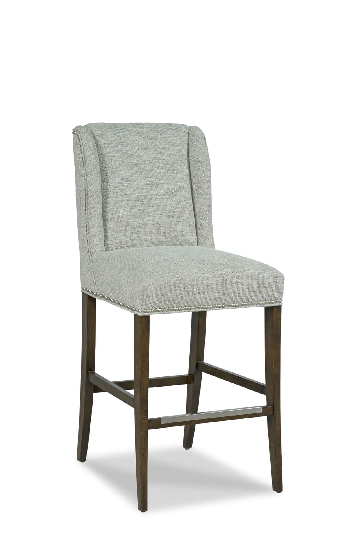 Fairfield's Dora Upholstered Wooden Bar Stool with Back
