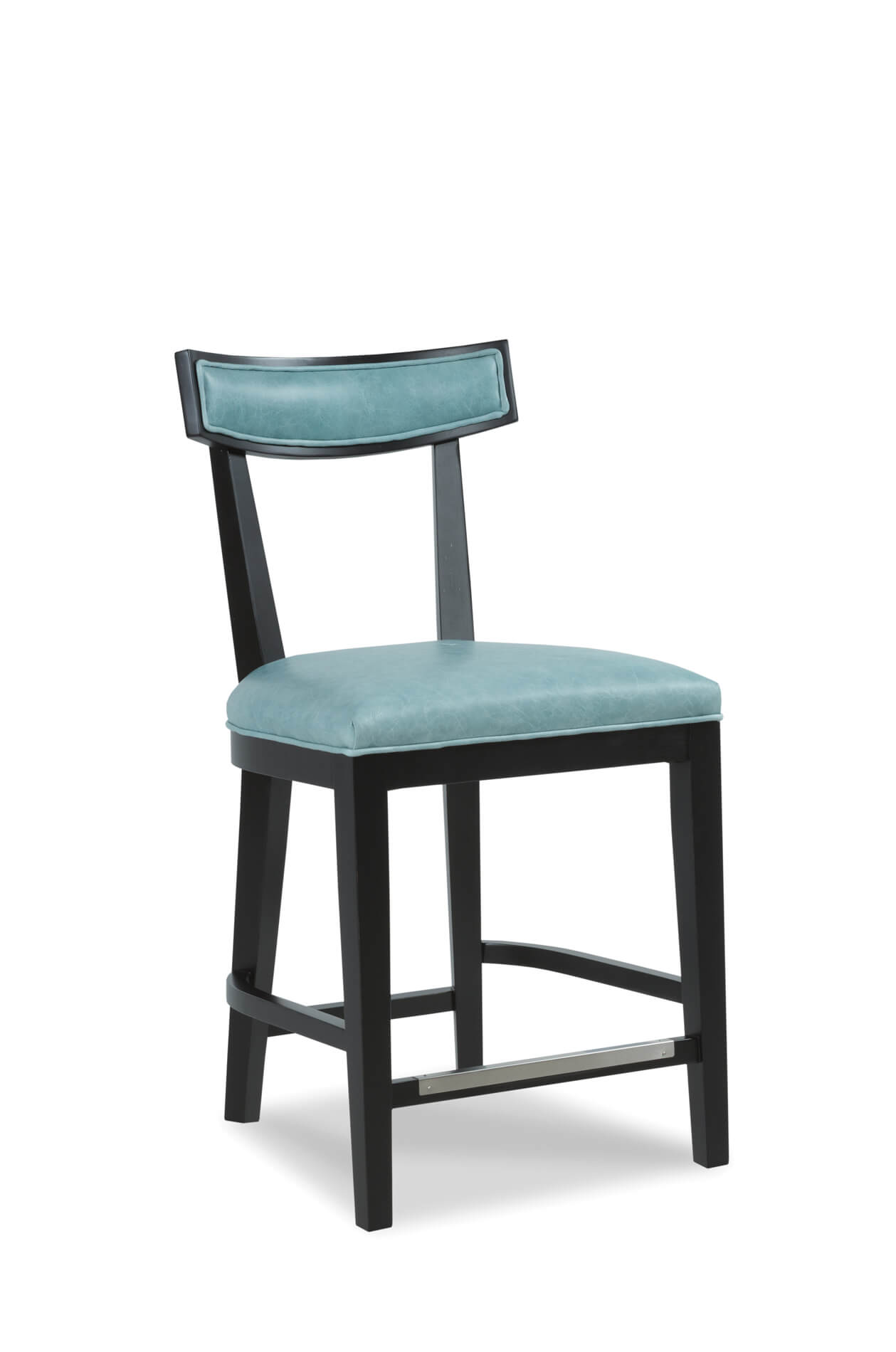 buy douglas wooden bar stool w backrest in leather free shipping. Black Bedroom Furniture Sets. Home Design Ideas