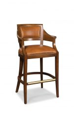 Fairfield Chair's Gilrow Bar Stool with Arms and Nailhead Trim