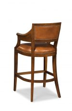 Fairfield's Gilrow Stool with Arms and Nailhead Trim
