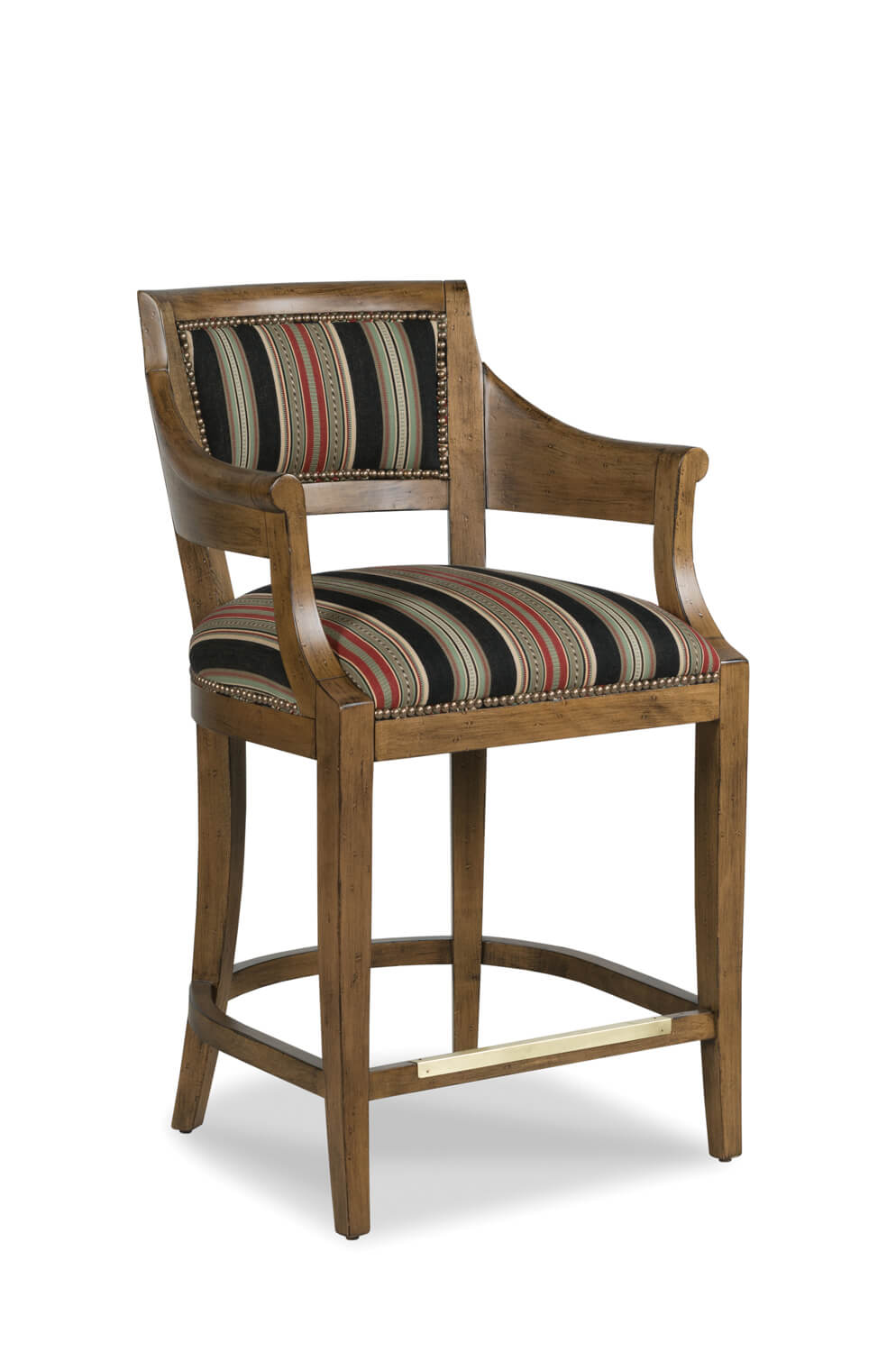 Buy Gilroy Game Room Barstool With Arms Amp Nailhead Trim