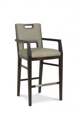 Fairfield's Holmes Modern Wooden Bar Stool with Arms