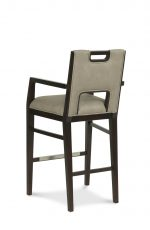 Fairfield's Holmes Modern Wood Barstool with Arms and Upholstered Back