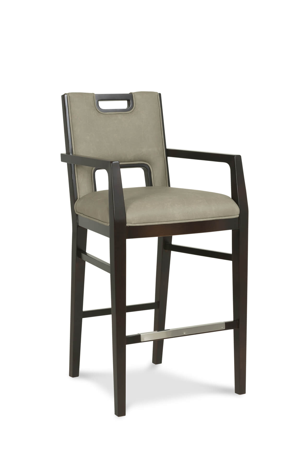 Fairfield S Holmes Modern Wooden Bar Stool With Arms