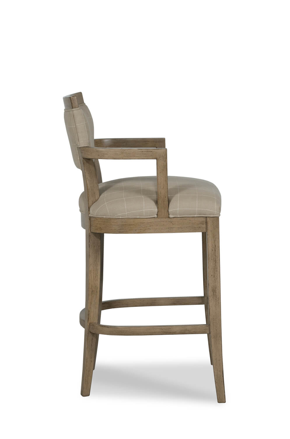 Buy Keller Comfortable Nailhead Wood Bar Stool W Arms
