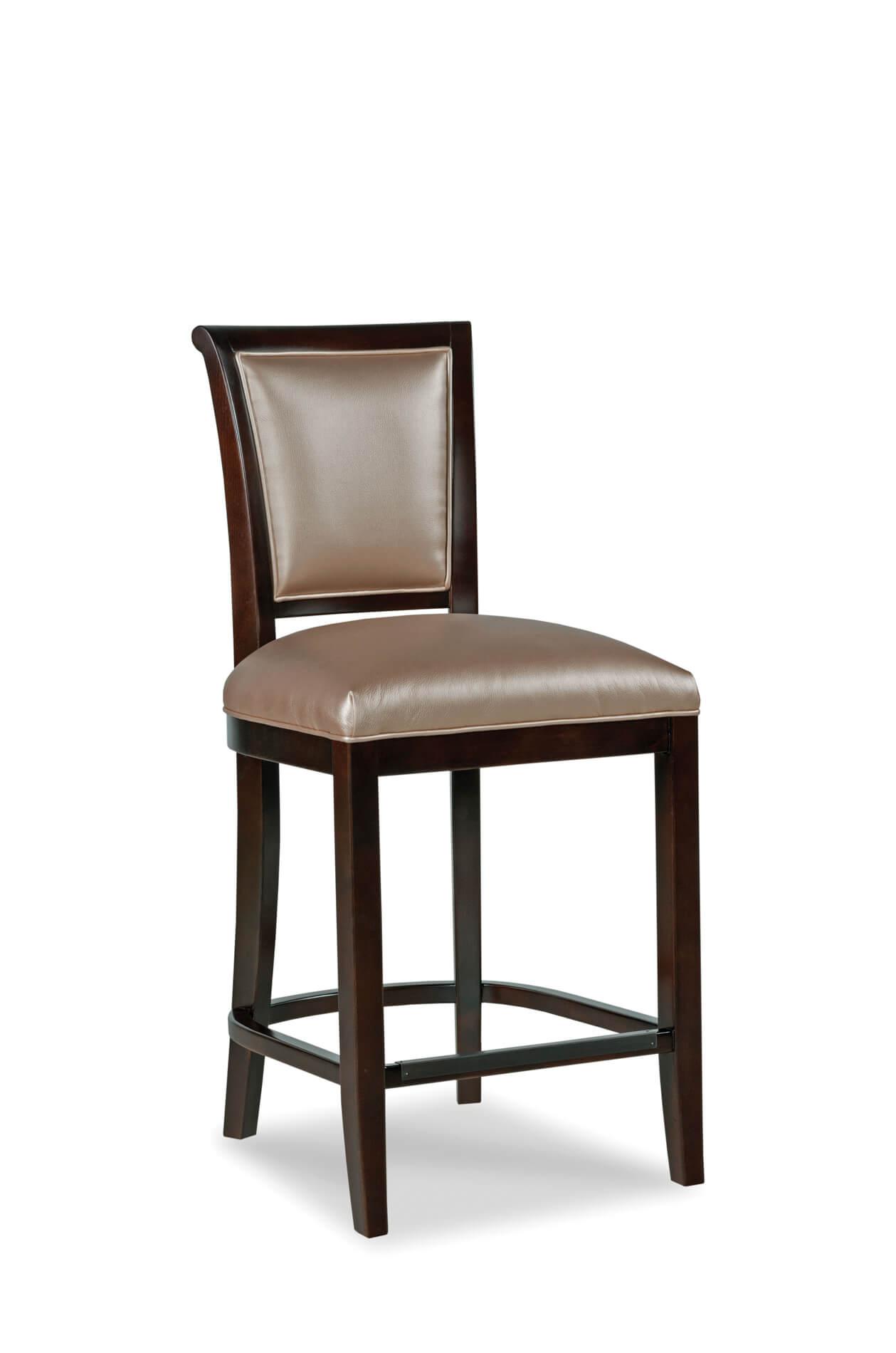 buy fairfield 39 s mackay upholstered wood barstool w back ships free. Black Bedroom Furniture Sets. Home Design Ideas