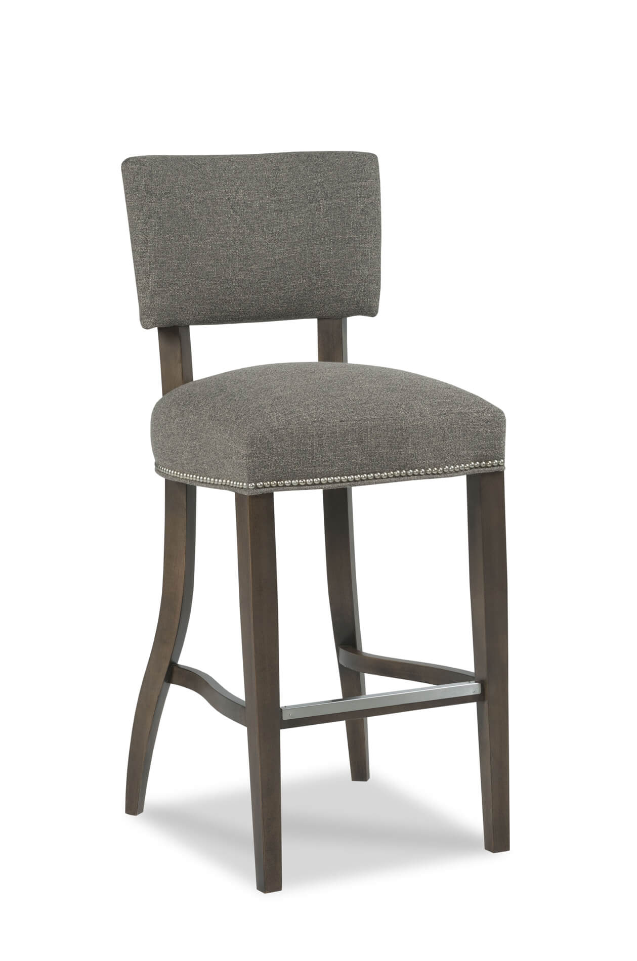 Fairfield's Niles Wooden Bar Stool with Nailhead Trim
