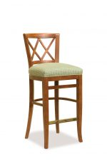 Fairfield's Portsmouth Wooden Bar Stool with Cross Design Backrest