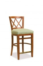 Fairfield Chair's Portsmouth Wood Counter Stool with Backrest