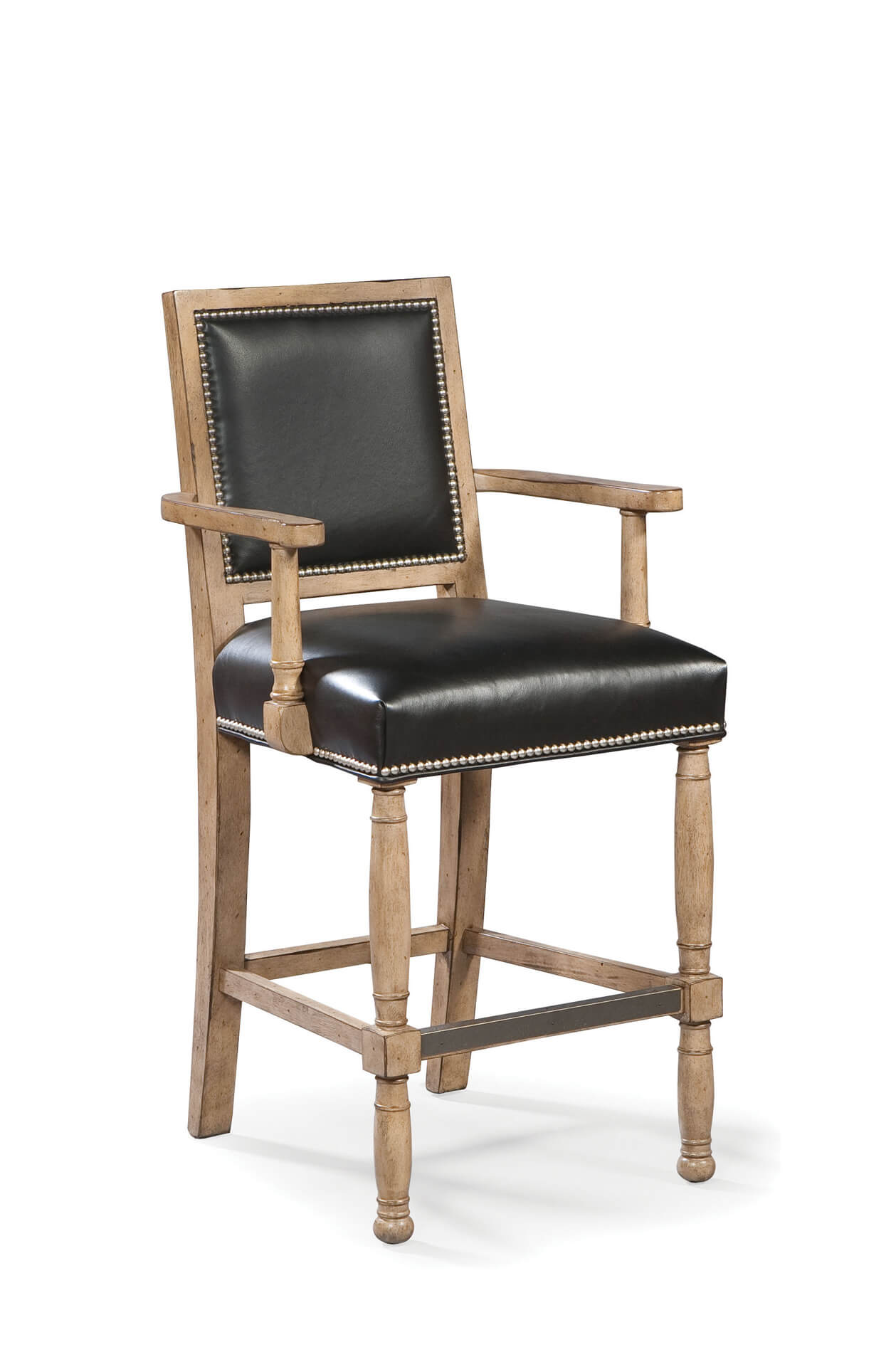 Ramsey Wooden Counter Stool with Arms
