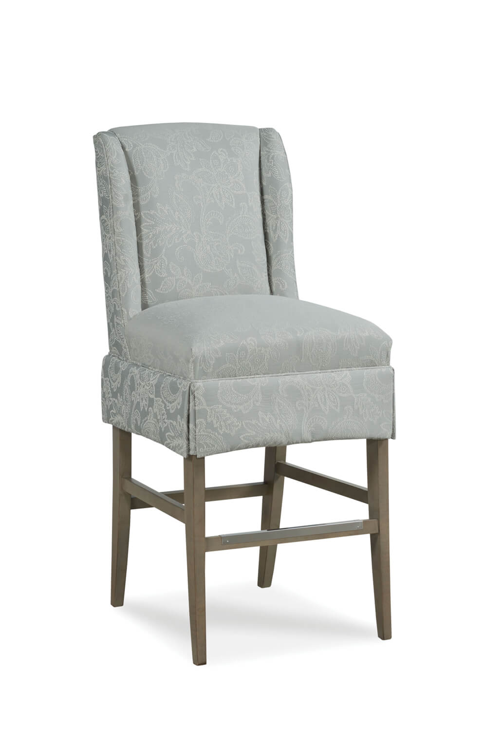Fairfield Chair's Reed Upholstered Bar Stool with Backrest