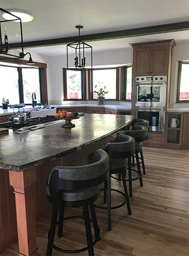 Amisco's Russell Barstools Kitchen Island