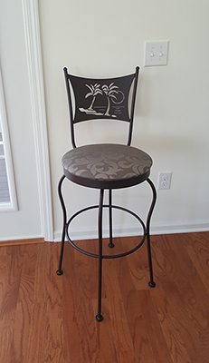 Art Collection Swivel Stool with Palm Trees from Customer