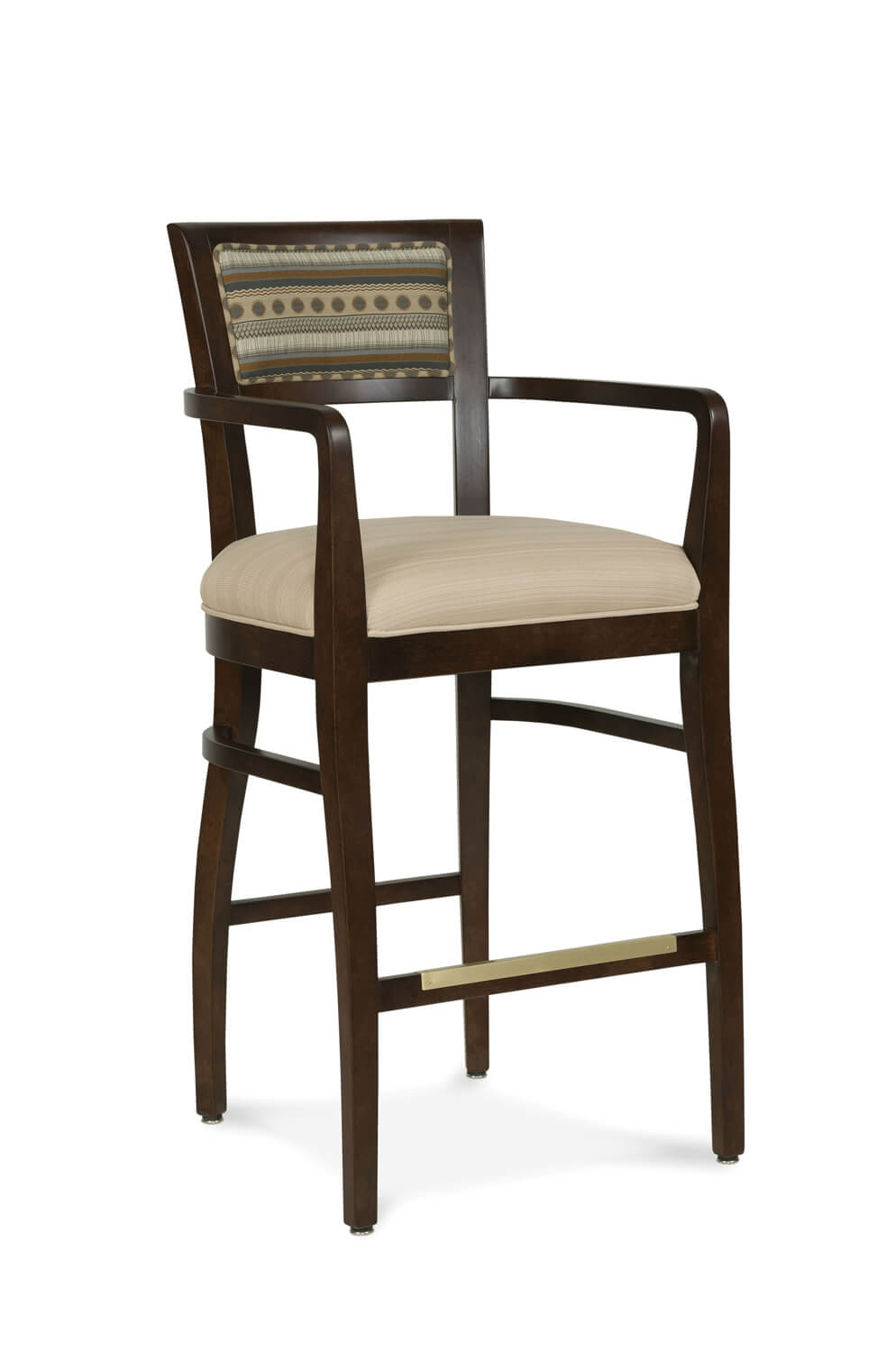 Albany Wooden Stool With Arms Amp Backrest Free Shipping