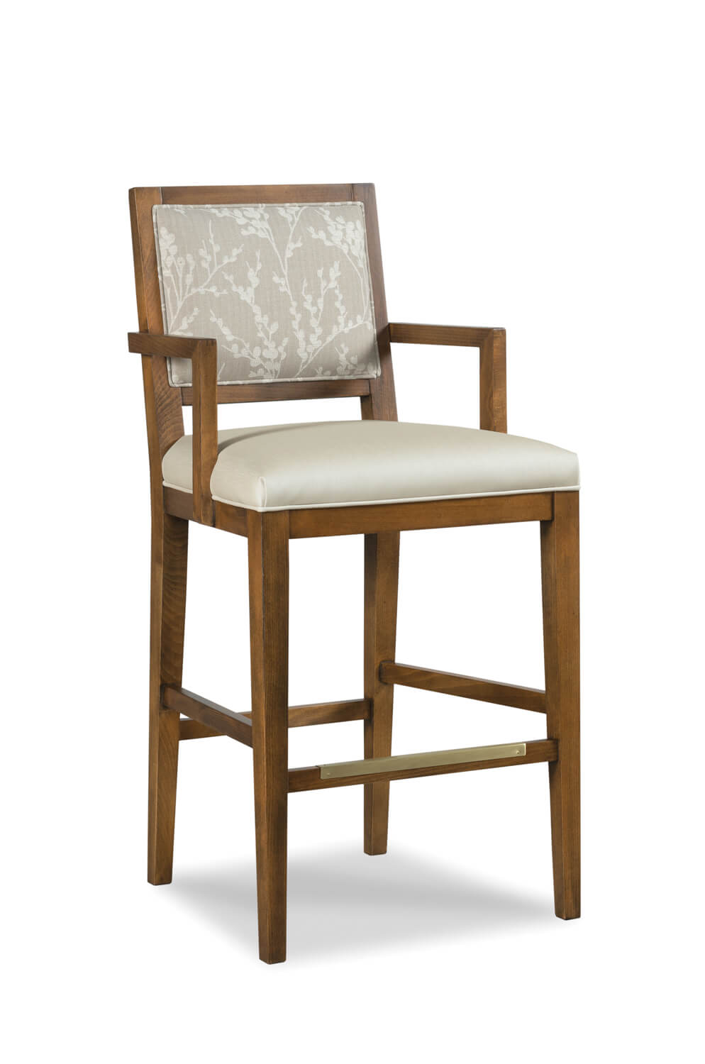 Buy Potter Transitional Wood Bar Stool W Arms Fabric Free Shipping