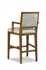 Fairfield Chair's Potter Wooden Bar Stool with Arms and Back