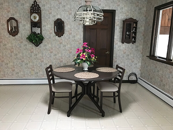 Malibu Dining Table Base in Dining Room with Chairs