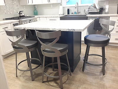 Amisco's Lincol Swivel Bar Stools in Customer's Modern Kitchen