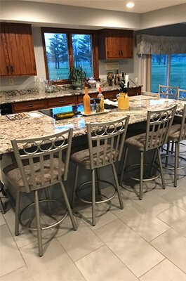 Customer Photo: Amisco's Momentum Swivel Stool in Traditional Kitchen