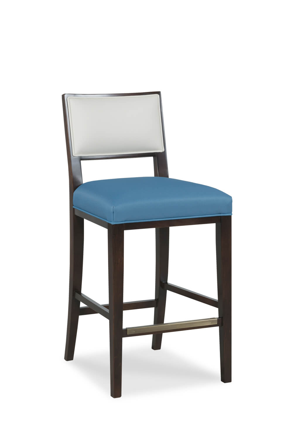 Fairfield's Dilworth Wooden Bar Stool with Back and Seat Cushion