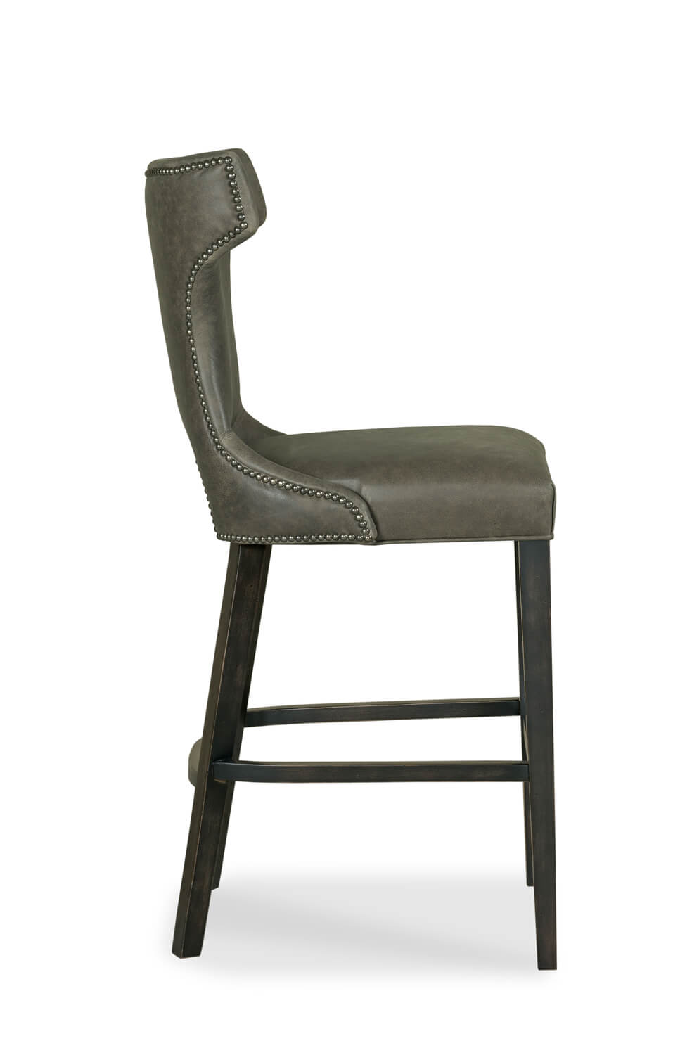 Fairfields gavin wood bar stool with upholstered back and seat